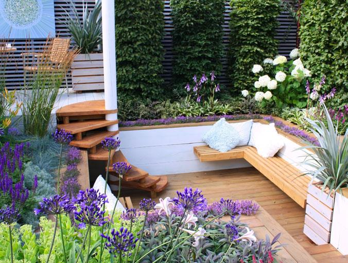 jardin avec du style